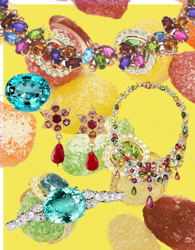 Llega el colorido tropical de la mano de las joyas con turmalinas.