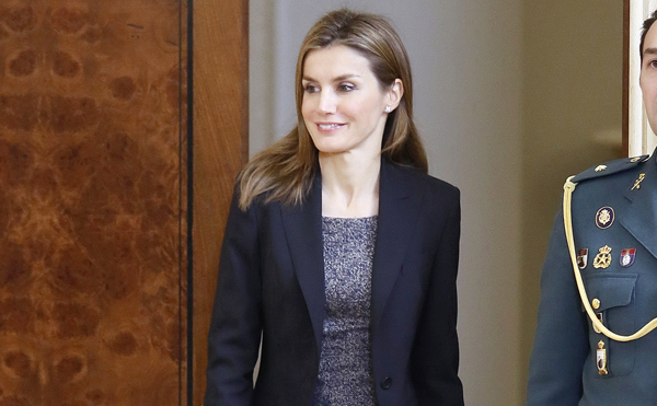 Princess Letizia of Spain Attends Audiences at Zarzuela Palace