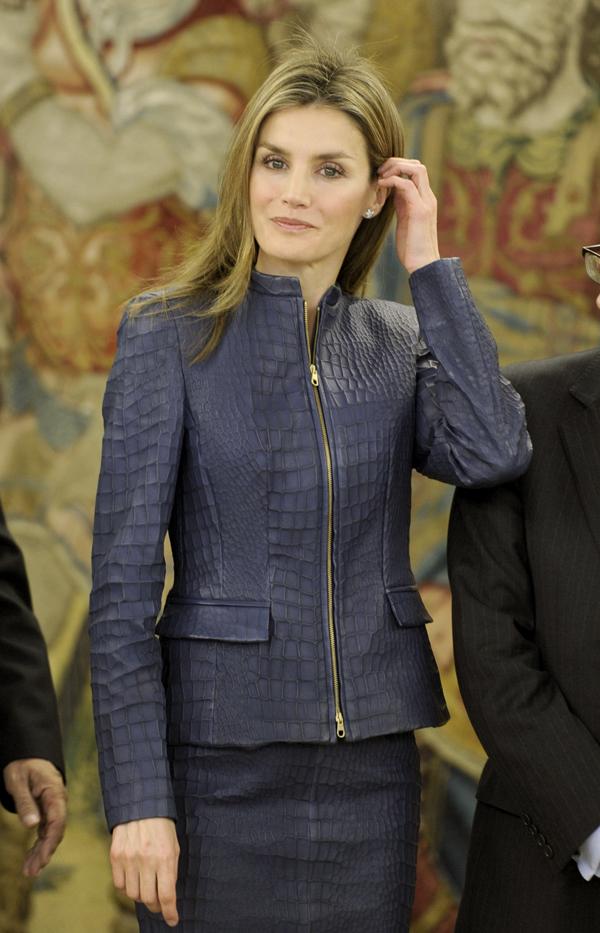 Princess Letizia of Spain Attends Audiences at Zarzuela Palace